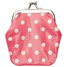 Buy Cath Kidston Little Spot Mini Clasp Purse, Pink Online at johnlewis.com