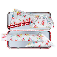 Buy Cath Kidston Floral Stationery Tin, White/Multi Online at johnlewis.com