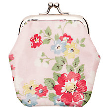 Buy Cath Kidston Mini Clasp Floral Purse, Pink/Multi Online at johnlewis.com