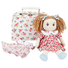 Buy Cath Kidston Freston Rose Rag Doll in a Suitcase, White/Multi Online at johnlewis.com