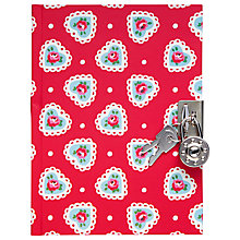 Buy Cath Kidston Sweetheart Diary, Red/Multi Online at johnlewis.com