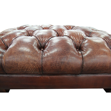 Buy John Lewis Todd Leather Footstool Online at johnlewis.com