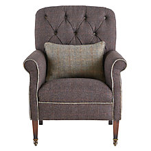 Buy Harris Tweed for John Lewis Flynn Armchair, Peat/Bracken Online at johnlewis.com