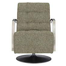Buy John Lewis Sydney Swivel Armchair, Harlequin Bind Oynx Online at johnlewis.com