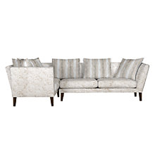 Buy John Lewis Regency LHF Large Corner End Sofa, Marlow Putty/Marlow Putty Stripe Online at johnlewis.com