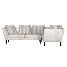 Buy John Lewis Regency RHF Large Corner End Sofa, Marlow Putty/Marlow Putty Stripe Online at johnlewis.com