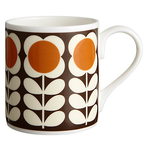 Buy Orla Kiely Poppy Stem Mug, Orange Online at johnlewis.com