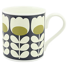 Buy Orla Kiely Tulip Stem Mug, Green Online at johnlewis.com