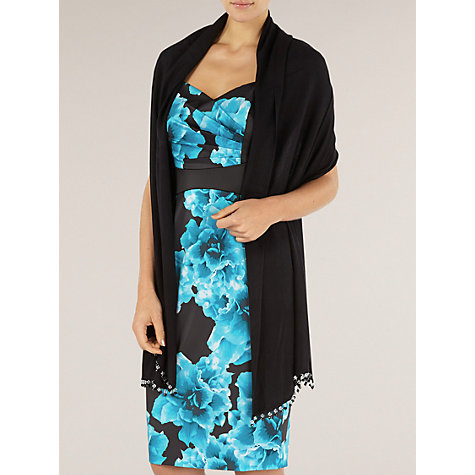 Buy Alexon Beaded Pashmina, Black Online at johnlewis.com