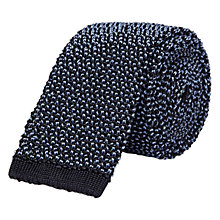 Buy Chester Barrie Knitted Tie, Navy/Sky Online at johnlewis.com