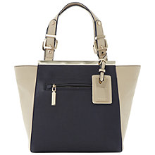 Buy Dune Deewinged Small Grab Handbag, Navy/Ivory Online at johnlewis.com