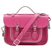 Buy The Cambridge Satchel Company Leather Mini Classic Satchel, Orchid Online at johnlewis.com