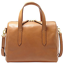 Buy Fossil Sydney Leather Trim Canvas Satchel Bag Online at johnlewis.com
