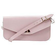 Buy The Cambridge Satchel Company The Leather Clutch Bag, Peach Pink Online at johnlewis.com