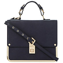 Buy Dune Dlocket Frame Satchel Bag, Blue Online at johnlewis.com