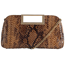 Buy MICHAEL Michael Kors Berkley Leather Large Clutch Handbag, Tan Python Online at johnlewis.com