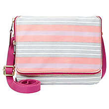 Buy Fossil Key-Per Mini Across Body Bag, Pink Stripe Online at johnlewis.com