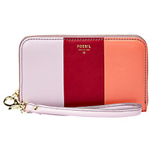 Buy Fossil Sydney Zipped Phone Leather Wallet Online at johnlewis.com