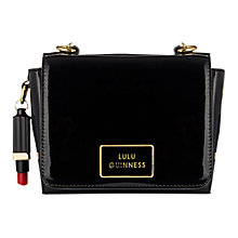 Buy Lulu Guiness Small Verity Black Patent Across Body Bag Online at johnlewis.com