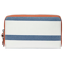 Buy Fossil Keyper Leather Zip Purse, Navy Online at johnlewis.com