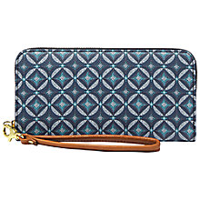 Buy Fossil Sydney Zip Clutch Bag, Multi Blue Online at johnlewis.com