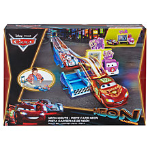 Buy Disney Cars Neon Nights Track Set Online at johnlewis.com