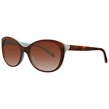 Buy Tiffany & Co TF4086H 81643B Cat's Eye Sunglasses, Havana Online at johnlewis.com