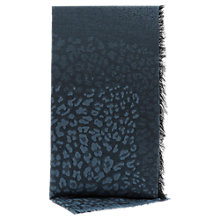 Buy Reiss Jacquard Oversize Scarf, Blue Online at johnlewis.com