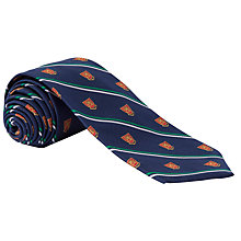 Buy Lauren by Ralph Lauren Crest Stripe Silk Tie, Navy Online at johnlewis.com