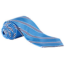 Buy Lauren by Ralph Lauren Multi Stripe Silk Tie, Blue Online at johnlewis.com