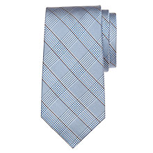 Buy Lauren by Ralph Lauren Large Check Tie, Grey/Blue Online at johnlewis.com