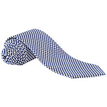 Buy Lauren by Ralph Lauren Square Print Silk Tie, Navy/White Online at johnlewis.com