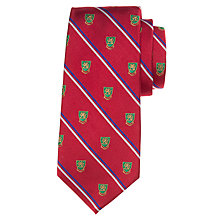 Buy Polo Ralph Lauren Crested Silk Tie, Red Online at johnlewis.com