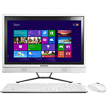 "Buy Lenovo C460 All-in-One Desktop PC, Intel Pentium, 4GB RAM, 1TB, 21.5"" Touch Screen, White Online at johnlewis.com"