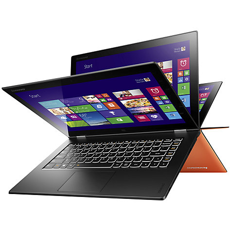"Buy Lenovo IdeaPad Yoga 2 Pro Convertible Ultrabook, Intel Core i5, 4GB RAM, 256GB SSD, 13.3"" QHD+ Touch Screen, Orange Online at johnlewis.com"