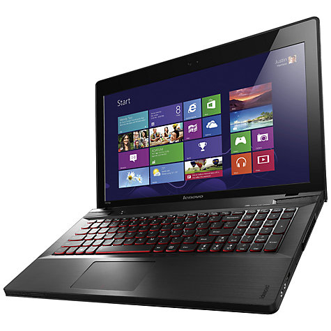 "Buy Lenovo Ideapad Y510p Laptop, Intel Core i7, 12GB RAM, 1TB + 8GB SSD, 15.6"", Black Online at johnlewis.com"