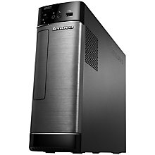 Buy Lenovo H500s Desktop PC, Intel Pentium, 4GB RAM, 500GB, Metallic & Black + Microsoft Office 365 Personal Online at johnlewis.com