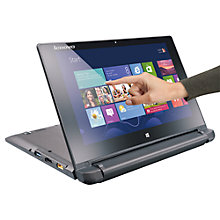 "Buy Lenovo IdeaPad Flex 10 Dual-Mode Laptop, Intel Pentium, 4GB RAM, 500GB, 10.1"" Touch Screen, Black Online at johnlewis.com"