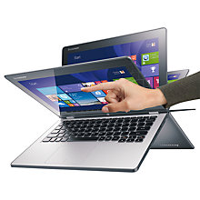 "Buy Lenovo Ideapad Yoga 2 11 Convertible Laptop, Quad-Core Intel Pentium, 4GB RAM, 500GB, 11.6"" Touch Screen, Black Online at johnlewis.com"