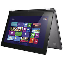 "Buy Lenovo Ideapad Yoga 11S Convertible Ultrabook, Intel Core i3, 4GB RAM, 128GB SSD, 11.6"" Touch Screen, Silver Online at johnlewis.com"