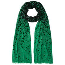Buy Hobbs Spot Scarf, Apple Green Multi Online at johnlewis.com