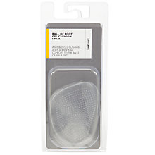 Buy John Lewis Ball Of Foot Gel Cushion, 1 Pair, Clear Online at johnlewis.com