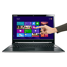 "Buy Lenovo IdeaPad Flex 15D Dual-Mode Laptop, AMD A6, 8GB RAM, 1TB, 15.6"" Touch Screen, Black & Silver Online at johnlewis.com"