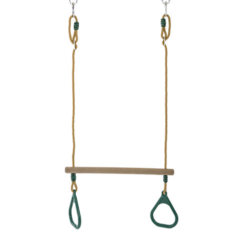 Buy TP Toys Wooden Trapeze Bar & Rings Online at johnlewis.com