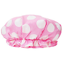 Buy Cath Kidston Big Spot Bath Hat, Pink Online at johnlewis.com
