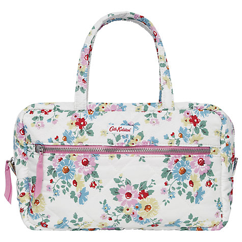 Buy Cath Kidston Bright Daisies Large Quilted Make-up Bag, White Online at johnlewis.com
