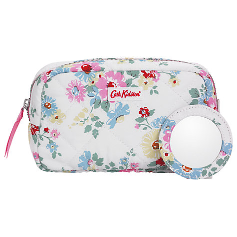 Buy Cath Kidston Bright Daisies Quilted Make-up Bag, White Online at johnlewis.com