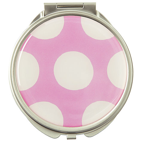 Buy Cath Kidston Big Spot Compact Mirror, Pink/White Online at johnlewis.com