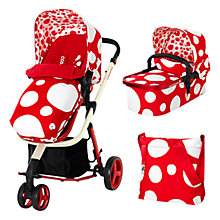 Buy Cosatto Hold Pushchair, Red Bubble, With Free Car Seat Online at johnlewis.com