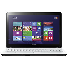 "Buy Sony Vaio Fit 15E Laptop, Intel Core i3, 4GB RAM, 500GB, 15.6"", White Online at johnlewis.com"